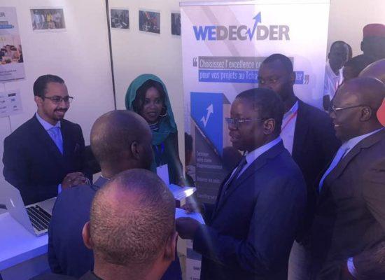 Visite du 1er Ministre de la République du Tchad de notre stand lors du salon Tchad Talent